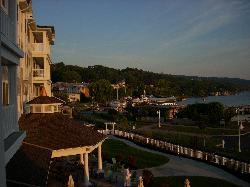 View from the balcony. Seneca Lake