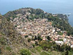 Taormina view from Madonna della Rocca