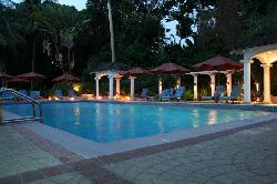 The pool in the evening.  All ours!