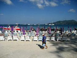 Patong Beach, very early in the morning, before the crowds