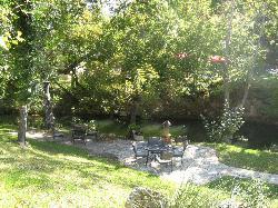 Patio area and chimeria