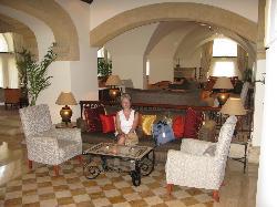 The lobby area