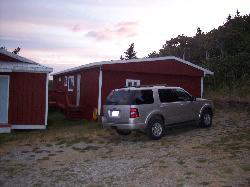 """Side of """"Glacier Cottage"""""""