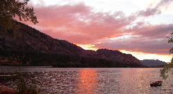 V.Lake sunset
