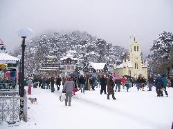 Mall road, Shimla (Feb '08) (18786072)