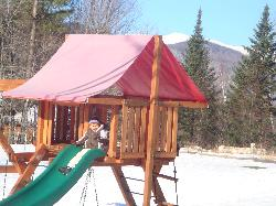 Little Playground and Sleigh Riding across the street from the Innt