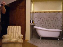 The main feature of the suite, roll top bath in the room, amazing!!!