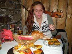 My lady with the great food at Jaskowa Izba.