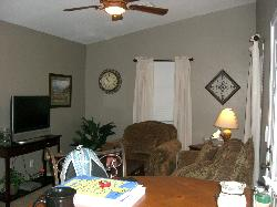 Living room of one of the lodging options