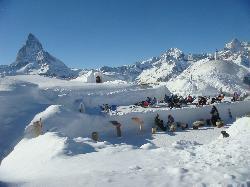 skiing in Zermatt, Switzerland