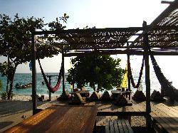 Blick vom Restaurant aufs Meer
