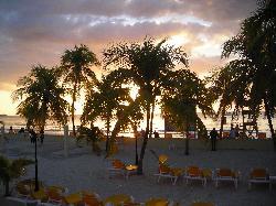 Sunset Overlooking Rooms Beach