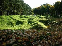 Vimy Ridge - bomb craters