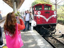 Alishan forest rail train at Chiayi Railway Station, Chaiyi City (19204507)