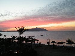 Sunrise over Tiran Island