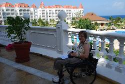 Christine enjoying the Terrace