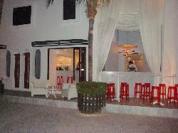 Mosquito blue restaurant side entrance
