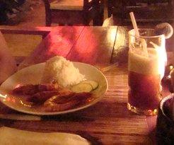 Restaurant at Sunset at Aninuan Beach Resort