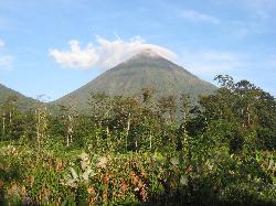 Volcano view from balcony