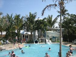 pool with waterslides