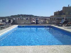 The great swimming pool on the roof