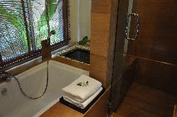 Sala Villa his & her sinks/dressing area