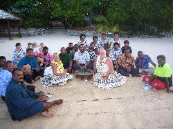 wedding vow renewal with our Navini Island family 2006