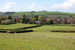 Looking down at Catwell House from the near field