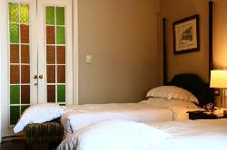 The bedroom area of our suite