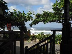 Legian beach from the restaurant