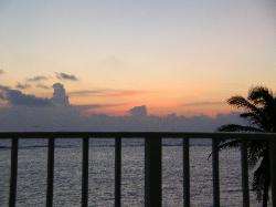 this was one of our normal nightly views from the balcony.