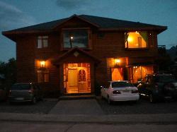 o hostel de noite