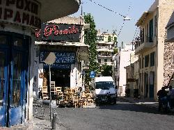 Interesting neighborhoods on walk to Agora from Hotel Rio