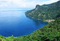 Hike up to a grand view of Soufriere