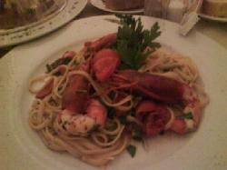 Linguine with king prawns