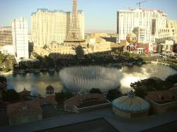 Fountains going in Vegas