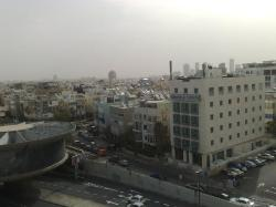 Tel Aviv - Sand Storm - View from the hotel