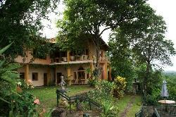 Villa Rosa, Blick auf Garten und  Zimmer