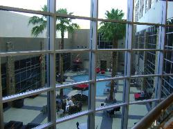 Pool area from 2nd floor common area