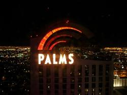 Vegas at night from the Playboy Club.