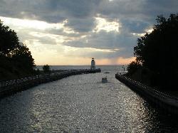 Pine River leading to Lake Michigan