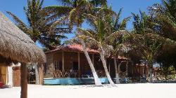 VIEW OF BUNGALOW #1 FROM BEACH