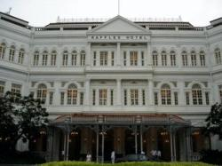 The famous Raffles. Very impressive