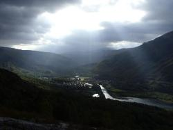 The Way out of Kinlochleven.