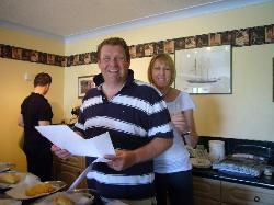 Owners Keith & Jenny - judging the pasty competition - I didn't win!