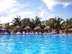 The pool facing the beach.