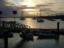 Sunset in Alvor Harbour