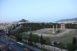 Temple of Zeus from the rooftop restaurant