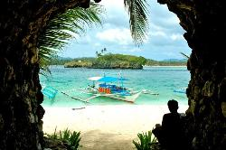 This is the entrance to Crystal Cove, a private island resort accessible from Boracay itself via (22198730)