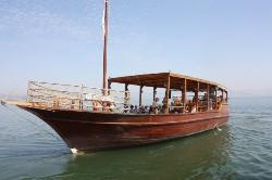 a boat called Faith at the Sea of Galilee (22207419)